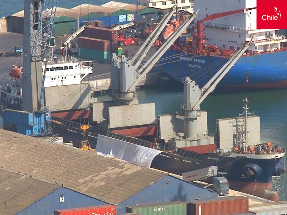 Carga de buque en puerto   Marca Chile   Toolkit