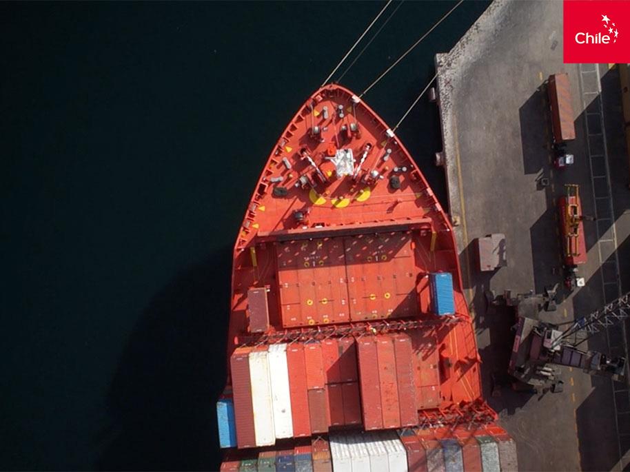 exportación marítima (footage) | Toolkit | Marca Chile
